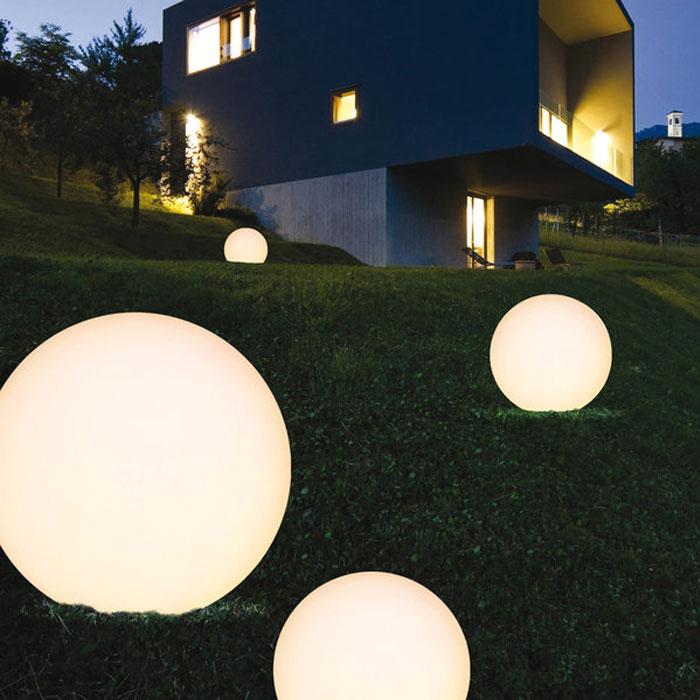 Linea Light Oh Outdoor Boden Kugelleuchte Innenaußen ø380