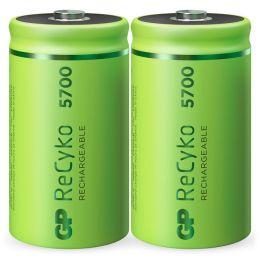 GP Mono D Akku Batterie ReCyko LR20 1,2V wiederaufladbar 2er Blister