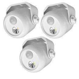 Mr Beams LED Mini Scheinwerfer weiß mit Bewegungsmelder MB300 3er Pack