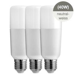 GE Bright Stik LED Röhrenform 6W (40W) E27 840 240° NODIM matt 3er Pack
