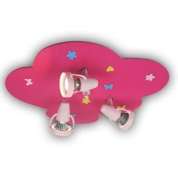 Niermann Deckenleuchte mit Strahlern BLUMENWIESE in pink