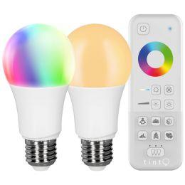 Müller-Licht tint Starter-Set mit 2xwhite+color LED Birnenlampen + Fernbedienung