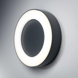 LEDVANCE dunkelgraue LED Außen-Decken-/Wandleuchte Outdoor Surface Round 13W 830 IP54