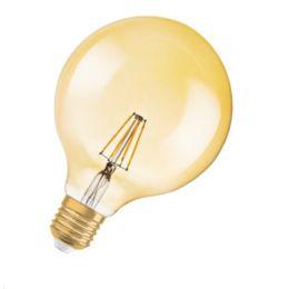 Osram goldene LED Globelampe Ø125mm Vintage Edition 1906 6,5W (51W) E27 824 300° DIM gold