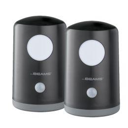 Mr Beams mobiles LED Nachtlicht mit Bewegungsmelder MB750 2er Pack schwarz
