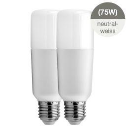 GE Bright Stik LED Röhrenform 12W (75W) E27 840 240° NODIM 2er Pack