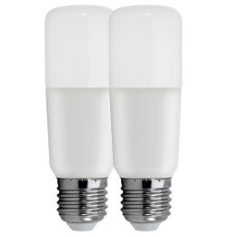 GE LED Röhrenform BRIGHT STIK 15W (100W) E27 830 240° NODIM matt 2er Pack