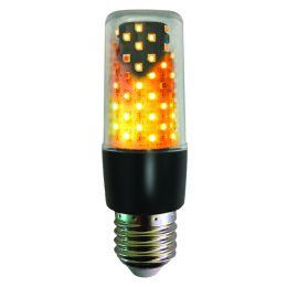 Firelamp Duo-LED Flammenlicht 3W E27 1800K 64SMDs klar Feueroptik-Standlicht