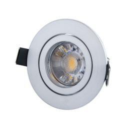 MegaLight LED Einbaubaustrahler Set matt, rund inkl. LED Leuchtmittel 5W (45W)