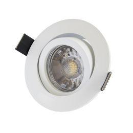 MegaLight LED Einbaustrahler Set matt, rund inkl. LED Leuchtmittel 5W DIM Ø82mm