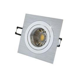 MegaLight LED Einbaustrahler Set Alu-gebürstet, eckig inkl. LED Leuchtmittel 5W