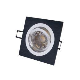 MegaLight LED Einbaustrahler Set in schwarz, eckig inkl. LED Leuchtmittel 5W