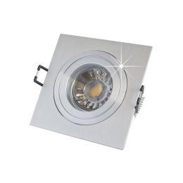 MegaLight schwenkbares Alu-Deckeneinbau-Set, eckig, inkl. 5W (45W) Leuchtmittel + Fassung
