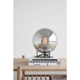 Hübsch Kugel-Tischleuchte SMOKED 26x30cm - silber schwarz