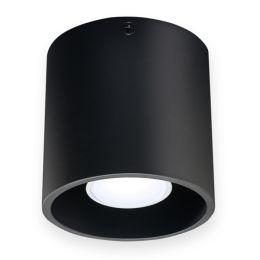 Kanlux moderne Deckenaufbauleuchte ALGO max. 40W schwarz rund