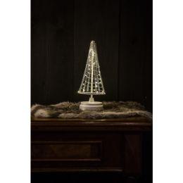 Christmas United LED Weihnachtsbaum SANTA TREE  in silber-weiß 25cm batteriebetrieben