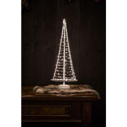 Christmas United LED Weihnachtsbaum SANTA TREE in silber-weiß 50cm batteriebetrieben