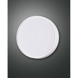 Fabas Luce weiße LED Deckenleuchte Hatton 14W 830 Ø250 mm