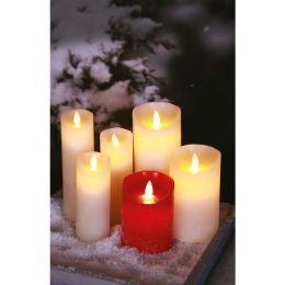 Firelamp strukturierte LED  Echtwachs-Kerze Flammeneffekt 25cm hoch mit Fernbedienung