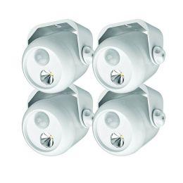Mr Beams LED Mini Scheinwerfer weiß mit Bewegungsmelder 4er Pack MB304
