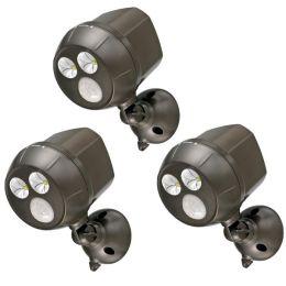 Mr Beams extra heller LED Scheinwerfer MB390 mit Bewegungsmelder 3er Pack braun