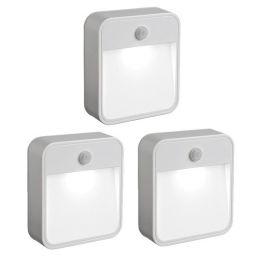 Mr Beams weißes LED Treppenlicht MB723 mit Bewegungsmelder 3er Pack