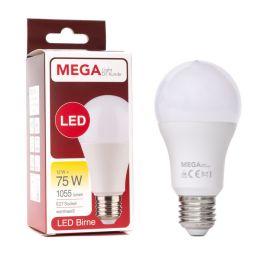 MegaLight LED Birnenform 12W (75W) E27 827 200° NODIM