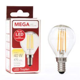 MegaLight LED-Filament Tropfenlampe 4,5W (40W) E14 927 NODIM klar