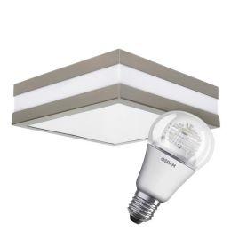 LED Deckenleuchte Set, matt inkl. LED Leuchtmittel 8W