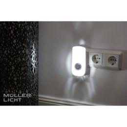 Müller Licht LED Nachtlicht Nox Sensor mit Doppelfunktion für Steckdose