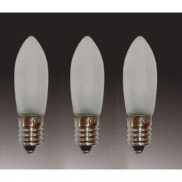 Hellum LED Riffelkerze 16V 0,1W E10 830 matt 3er Pack