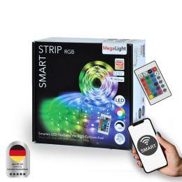 MegaLight Smart LED Strip RGB 24W 5000mm DIM inkl. Fernbedienung