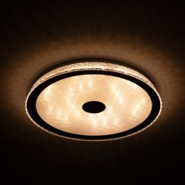 Megalight LED Wand-/ Deckenleuchte SHINING MAIC WHITE 40W Lichttemperaturwechsel + Sleeptimer + Fernbedienung Ø500mm DIM