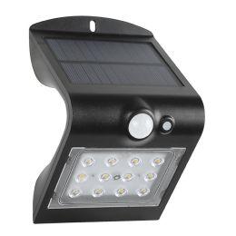 Megatron LED Solar-Wandleuchte WAVE S mit Bewegungsmelder - schwarz