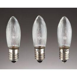 Hellum LED-Riffelkerzen 12V 0,1W E10 830 klar 3er Pack