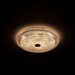 MegaLight LED Wand-/ Deckenleuchte SHINING CRYSTAL 24W Lichttemperaturwechsel + Sleeptimer + Fernbedienung Ø490mm DIM
