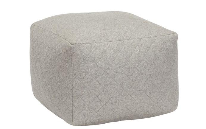 Hübsch Sitzsack in grau eckig