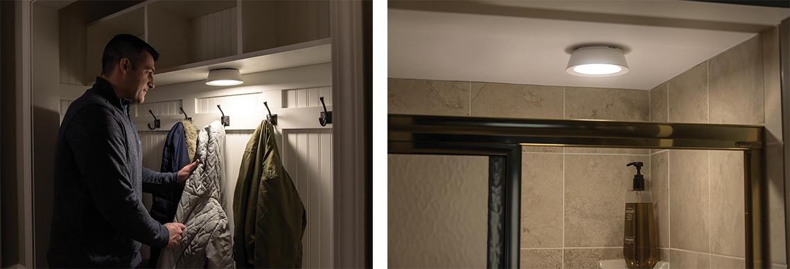 Licht in der Dusche Licht im Kleiderschrank