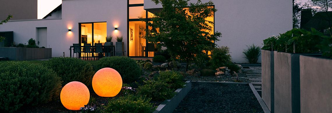 MegaLight Außenleuchte Kugelleuchte Garten