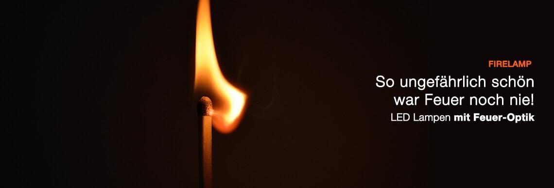 LED Lampe mit Feueroptik