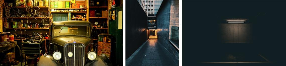 Licht in Garage