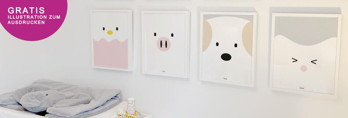 gratis illustration fürs Kinderzimmer zum ausdrucken
