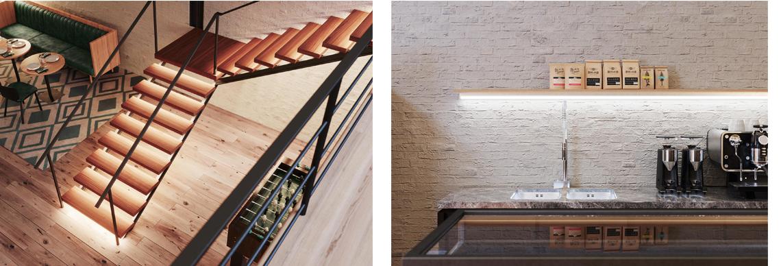 Ledvance LED Stripes Anwendung Küche Treppe