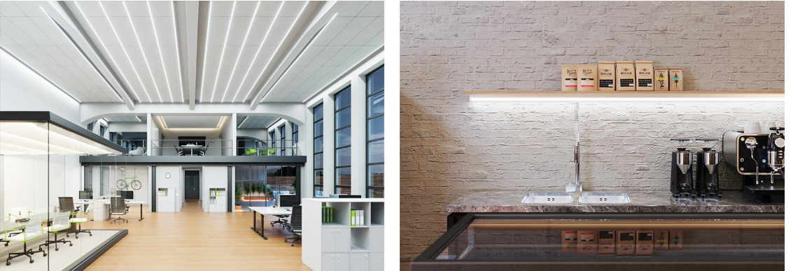 Ledvance LED Stripes für Büro oder Cafe Foyer Eingangsbereich