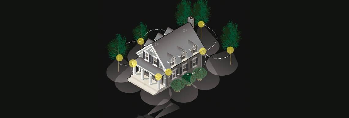 Funkvernetzbare LED Batterie Strahler
