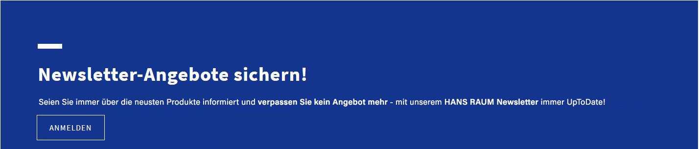 Newsletter Hans RAUM B2B Kunden Licht